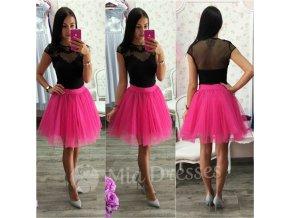 Cyklaménová krátka tylová tutu sukňa