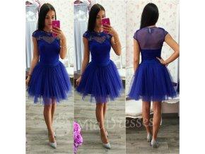 Modrá krátka tylová tutu sukňa
