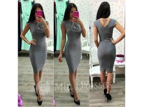 Sivé krátke priliehavé šaty