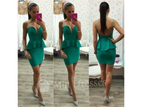Zelené peplum šaty
