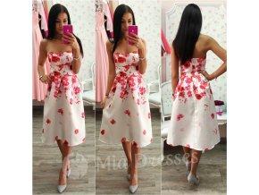 Kvetinové spoločenské midi šaty